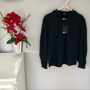 NWT Paige Black Alexi Top Size Small